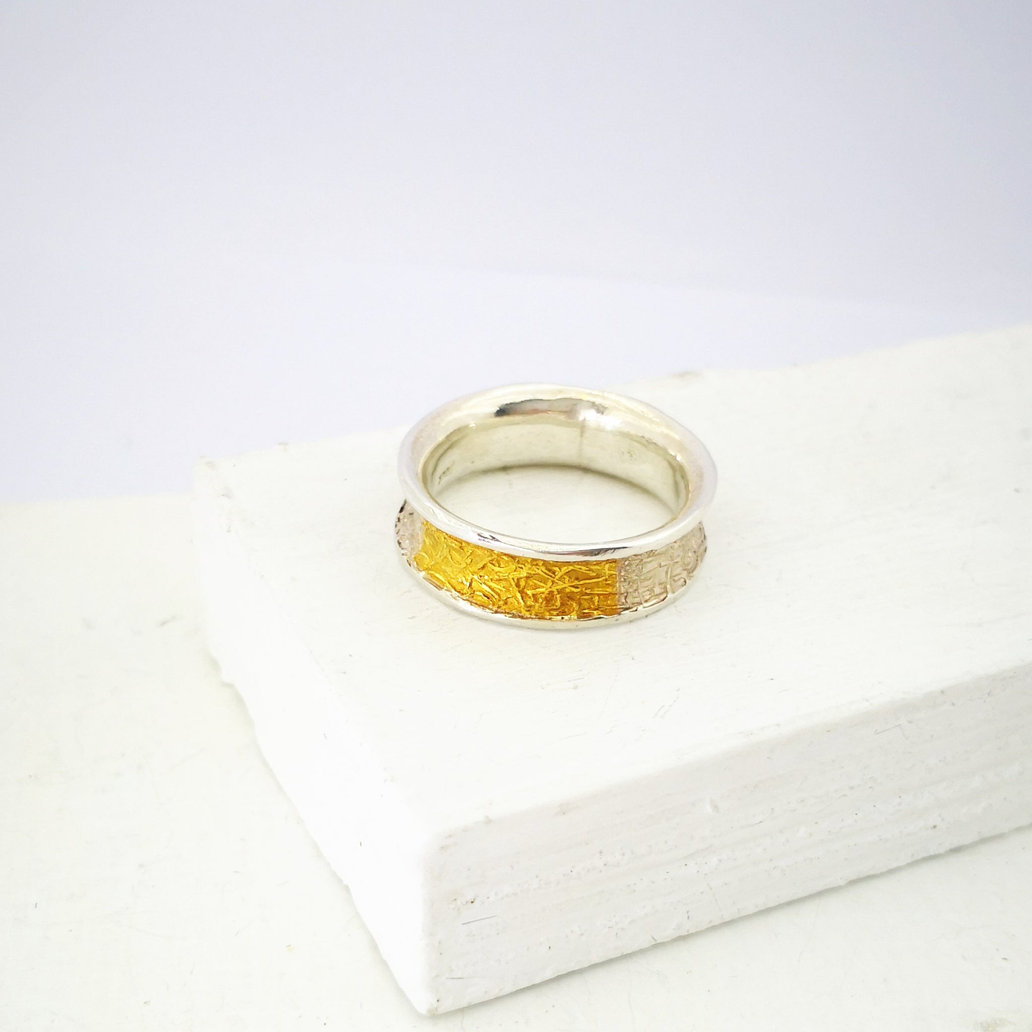 TEXT-ure Ring #3 by David McLeod