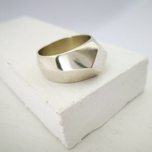Silver signet ring by Emily Efford.