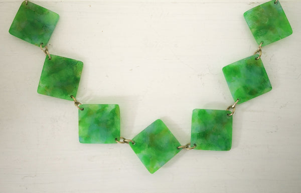 The Minty Jade Necklace by Fran Carter.