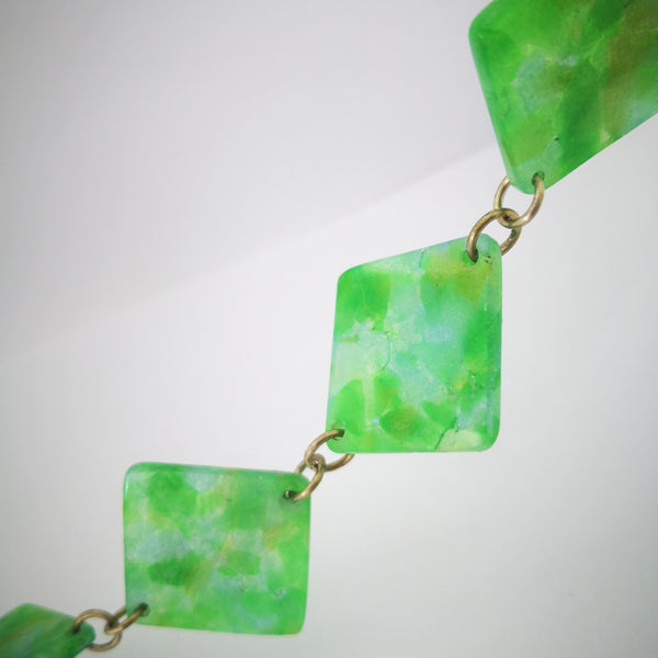 Close up detail of the Minty Jade Necklace by Fran Carter.