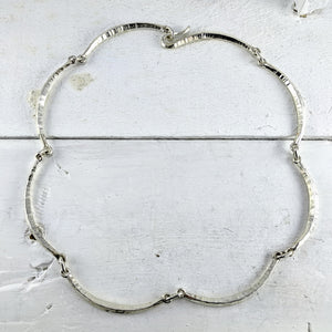 Forged Scallop Necklace in Silver