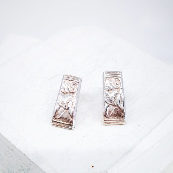 Teaspoon studs by GG Jewellery in silver