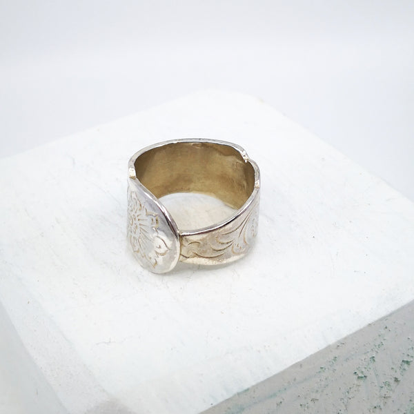 Moroccan Wedder Ring, silver by GG Jewellery