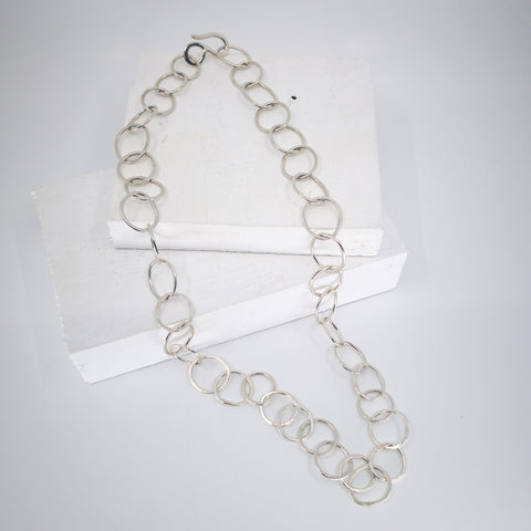 Organic Circle Chain Necklace by Herbert and Wilks.