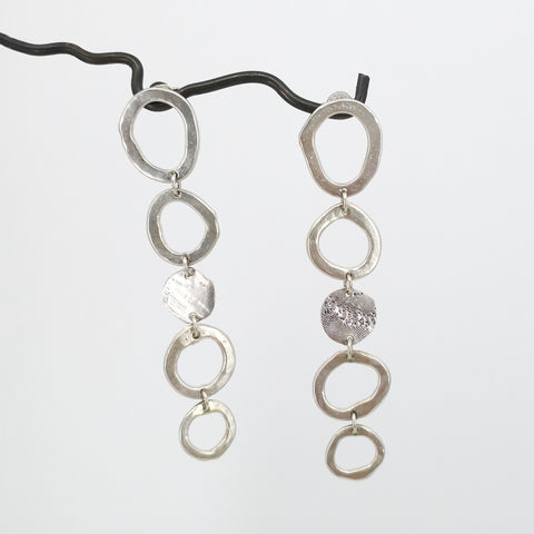 Abstract Circle Earrings - Long