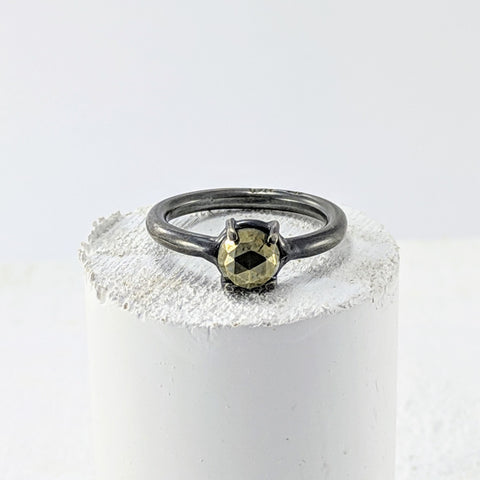 Pyrite Ring - Silver