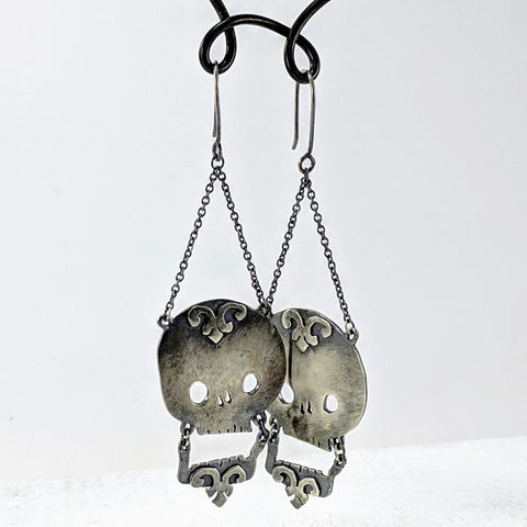 Laughing Skulls Earrings