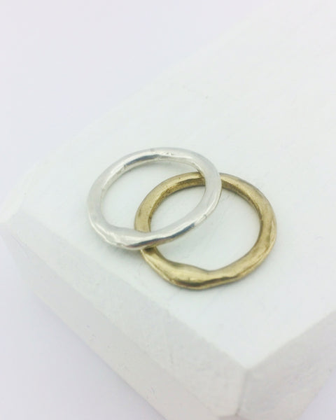 Organic Tales - The Sun and the Moon Ring by Herbert and Wilks. Stacker ring set.