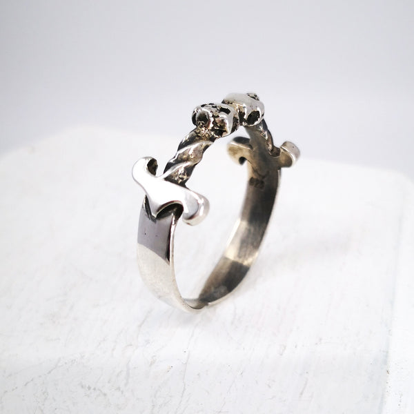 Side view of Double Dagger Ring by Nick Rule
