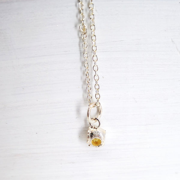 Yellow Beryl Droplet Necklace by Natalie Salisbury