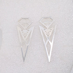 Pohutukawa Earrings in Silver Plate by Banshee The Valkyrie, Big Boss Bitch Earring Collection.