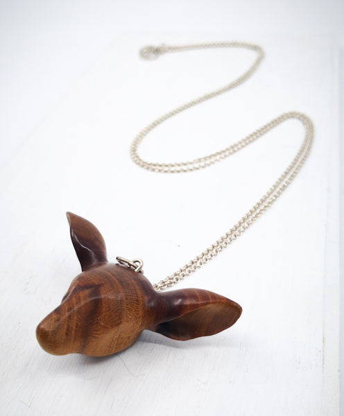 Handcarved Cherrywood Doe Pendant by Vaune Mason