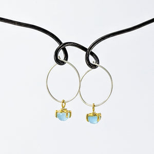 Chalcedony Earrings by Buster Collins