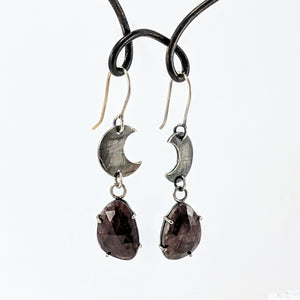 Celestial Phase Earrings with Rubies by Buster Collins