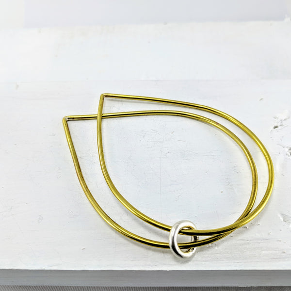Double Raindrop Bangle by Buster Collins
