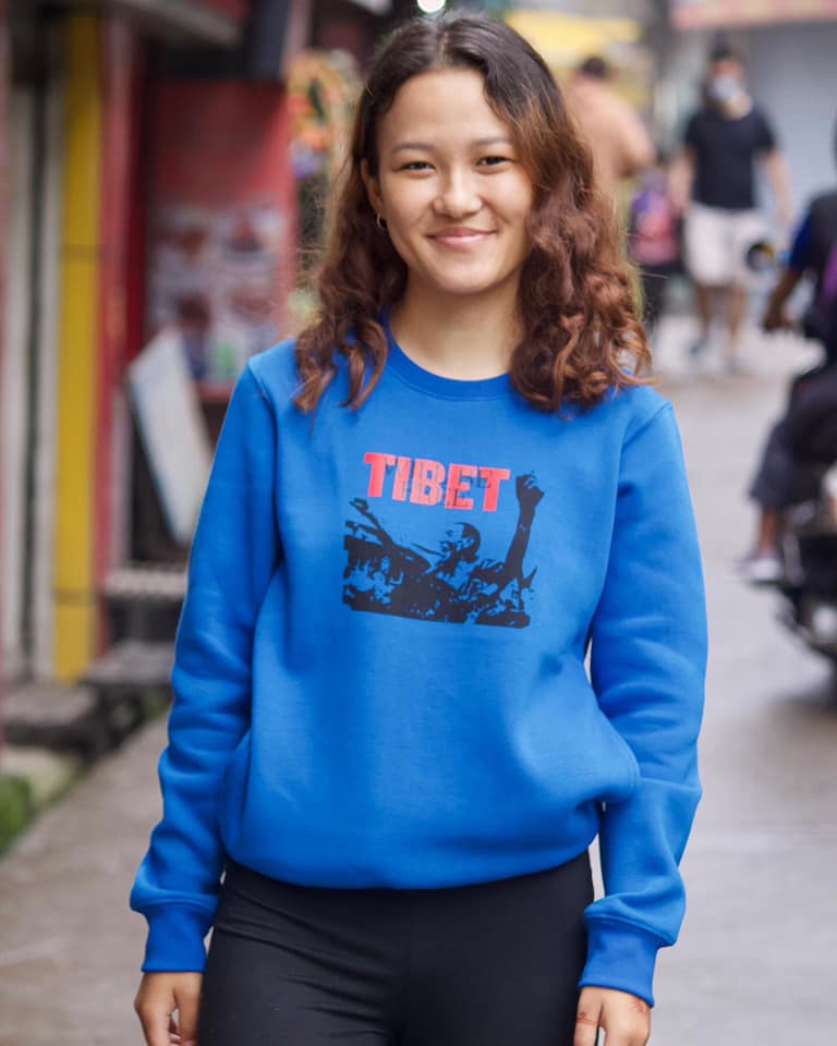 """Tibet will be Free"" Graphic Crewneck"