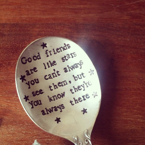 'Good Friends Are Like Stars' Pudding Spoon