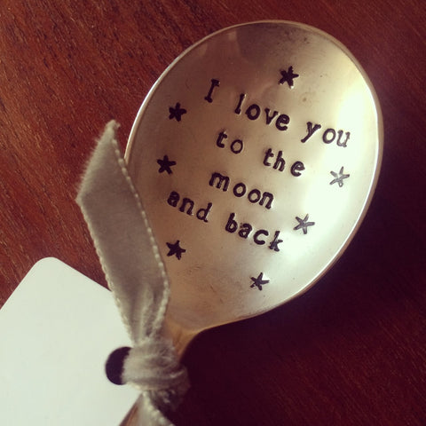 'I Love You To The Moon' Pudding Spoon