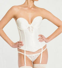 Load image into Gallery viewer, Lace plunge Low Back Bustier