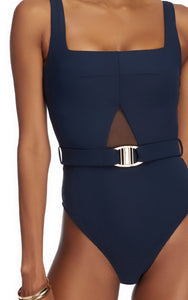 Conspire Square Neck High Leg One Piece