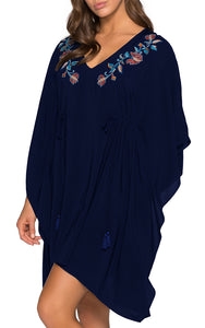 Kindred Embroidered Drawstring Kaftan