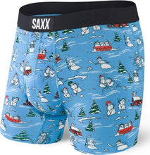 Load image into Gallery viewer, Vibe Blue Pucking Awesome Snowmen Hockey Boxer Brief