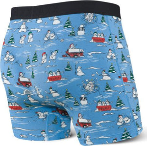 Vibe Blue Pucking Awesome Snowmen Hockey Boxer Brief
