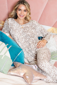 Danielle Leopard Leggings and Slouch Top Loungewear