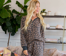 Load image into Gallery viewer, Zara Leopard Shorts and Button Up Top Loungewear