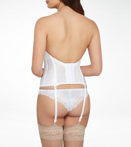 Lace plunge Low Back Bustier