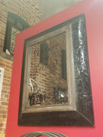 Beautiful Black Metal Framed Mirror