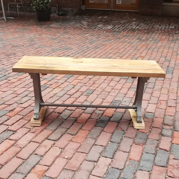 Industrial Style Wooden Bench