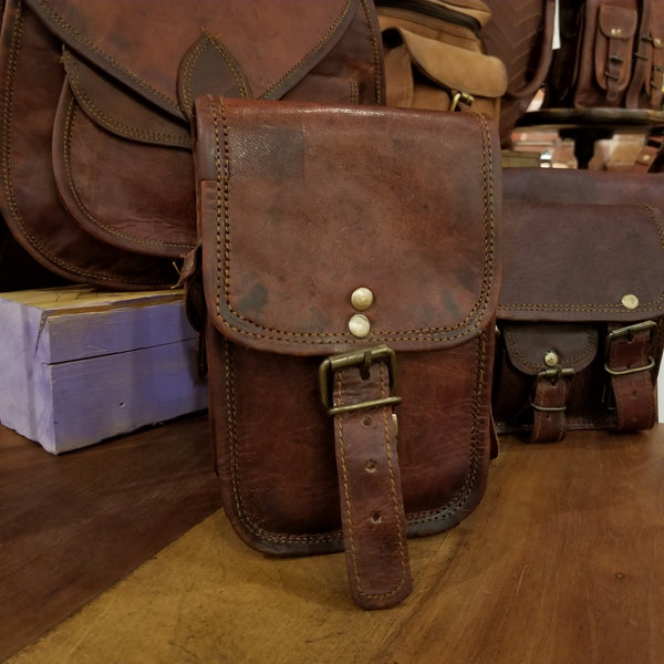 "Leather Satchel 7""x5"""