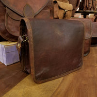 "Leather Satchel 7""x9"""