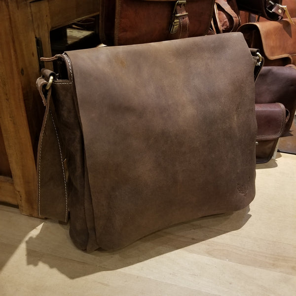 "Soft Leather Satchel 14""x14"""