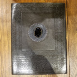 "Embossed Leather Journal with Stones - 13.5""x10.5"""