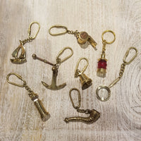 Nautical Brass Keychain