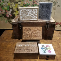 Carved Wooden Boxes - $28