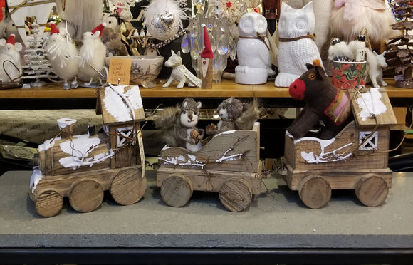 Wooden Winter Train