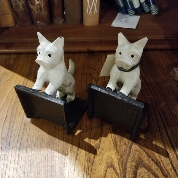 Cast Iron Dog Bookends