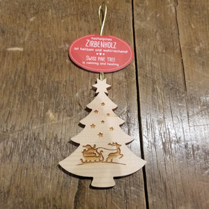Etched Wooden Tree Ornament