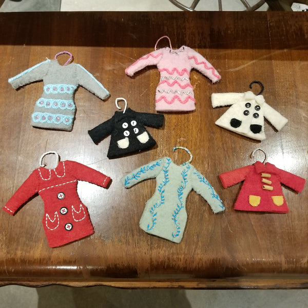 Mrs. Claus Sweater Ornaments