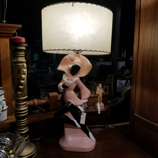 Hand Painted Vintage Lamp