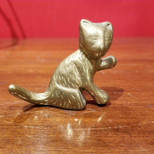 Mini Brass Cat