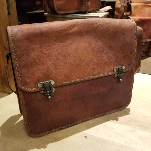 "Leather Satchel 11""x13"""