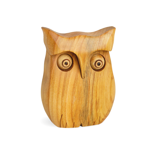 Smooth Wooden Owl