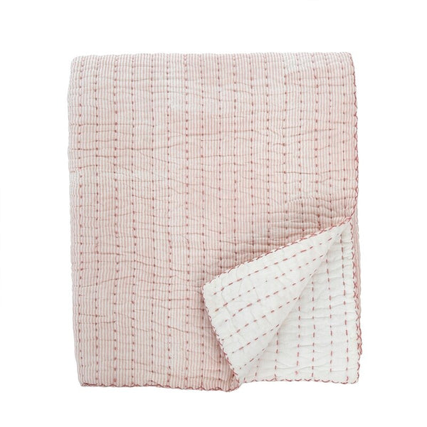Cecily Quilted Throw, Rose