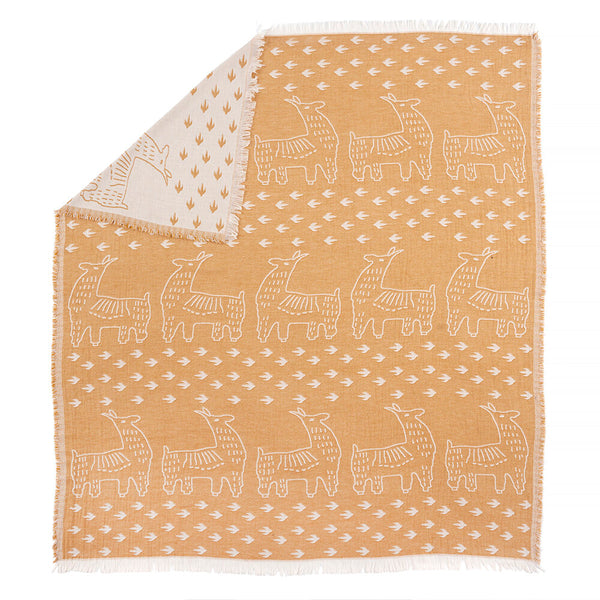 Llama Folk Art Throw