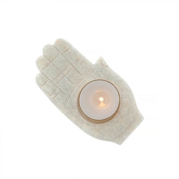 Marble Palm Tea Light