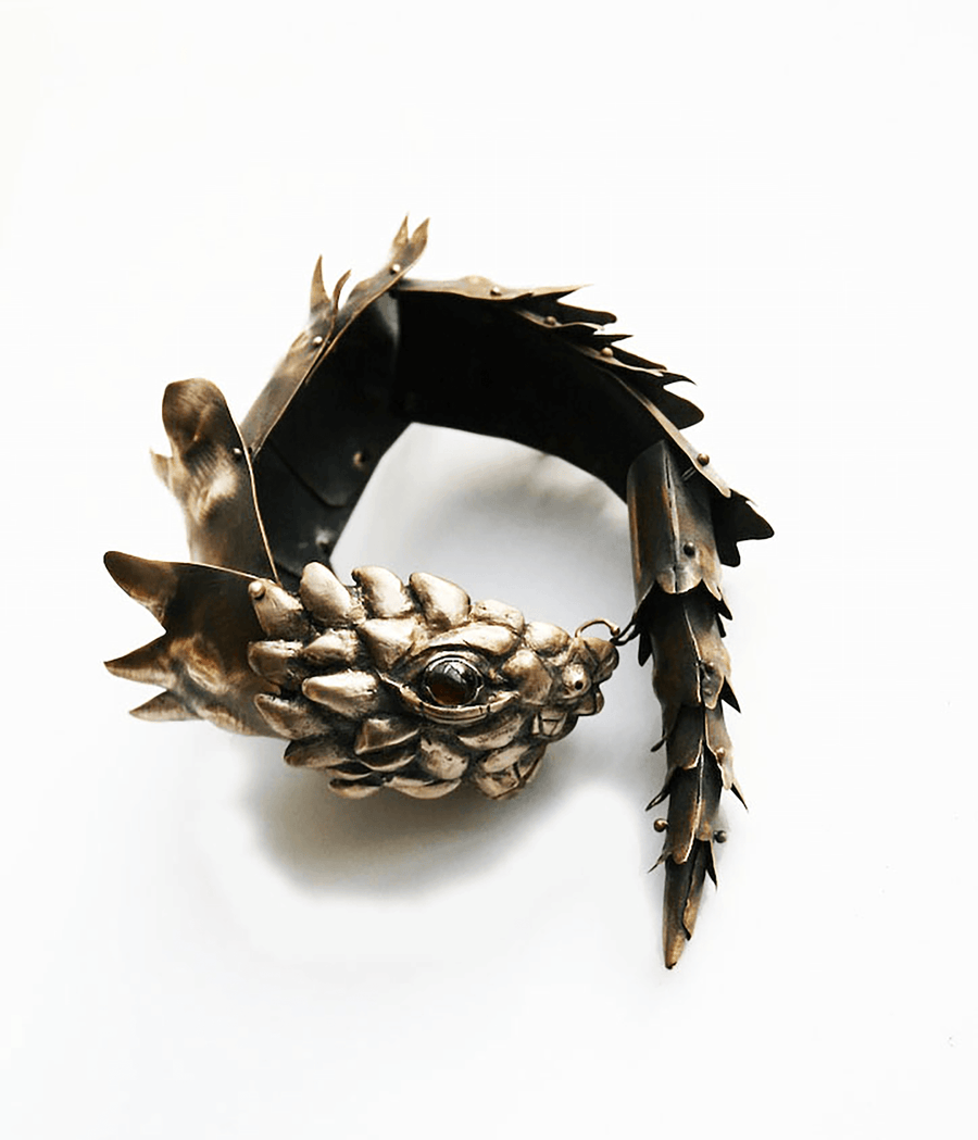 Kinetic Armadillo Lizard Bracelet